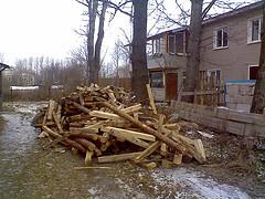 Сегодня привезли дрова